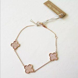 Sterling silver clover bracelet